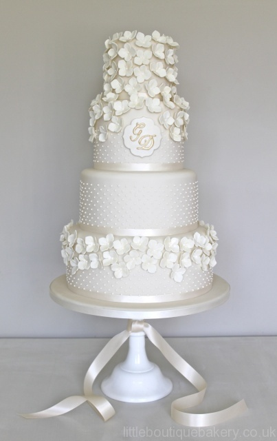 Wedding Cake With Initials