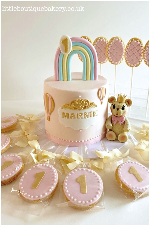 Rainbow Bear Cake