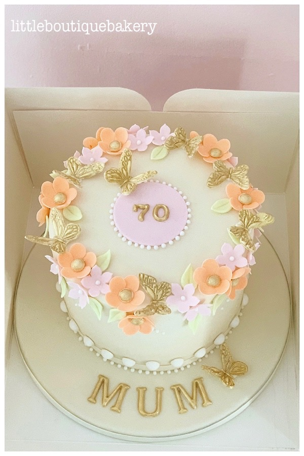 Blossom Butterfly Cake in Ivory