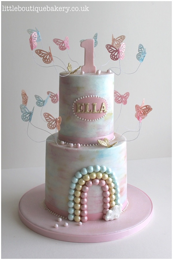 Butterfly Rainbow Birthday Cake