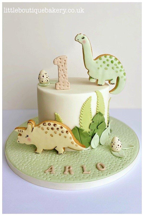 Dinosaur Cookie Cake
