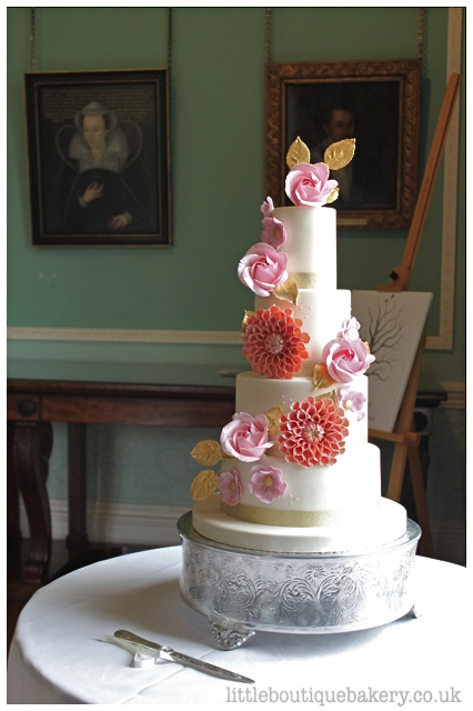 Floral Garden Wedding Cake