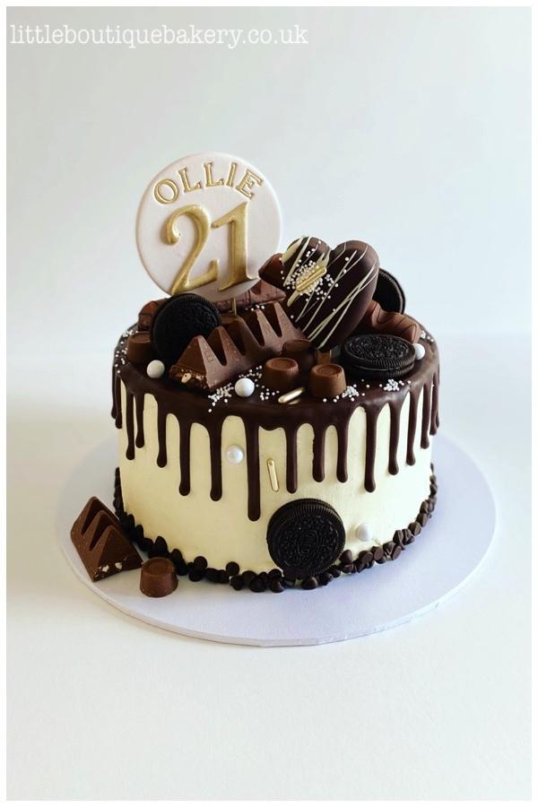 Deluxe Choc Drip Birthday Cake