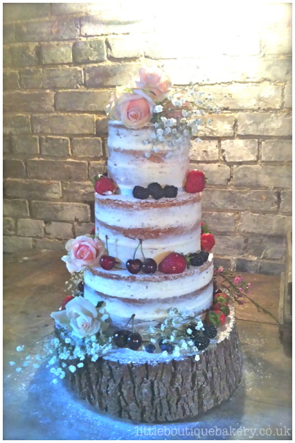 Naked Berries Wedding Cake