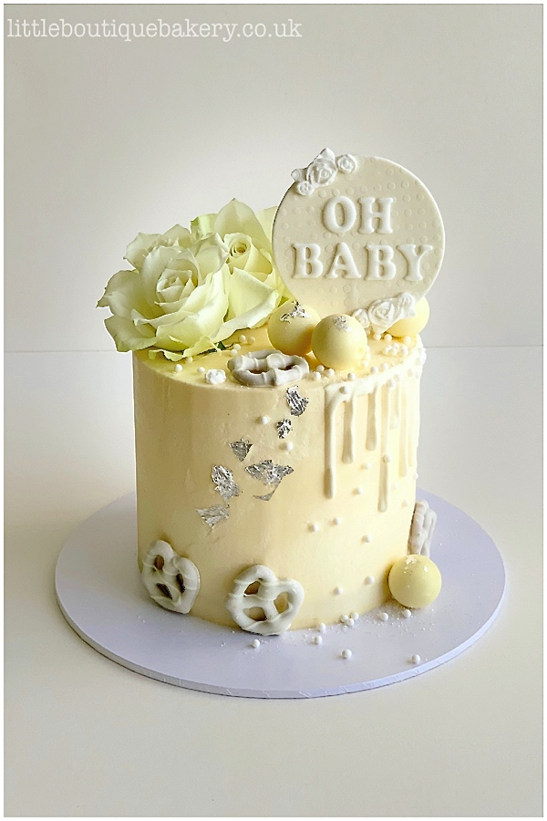 Neutral Baby Shower Buttercream Cake