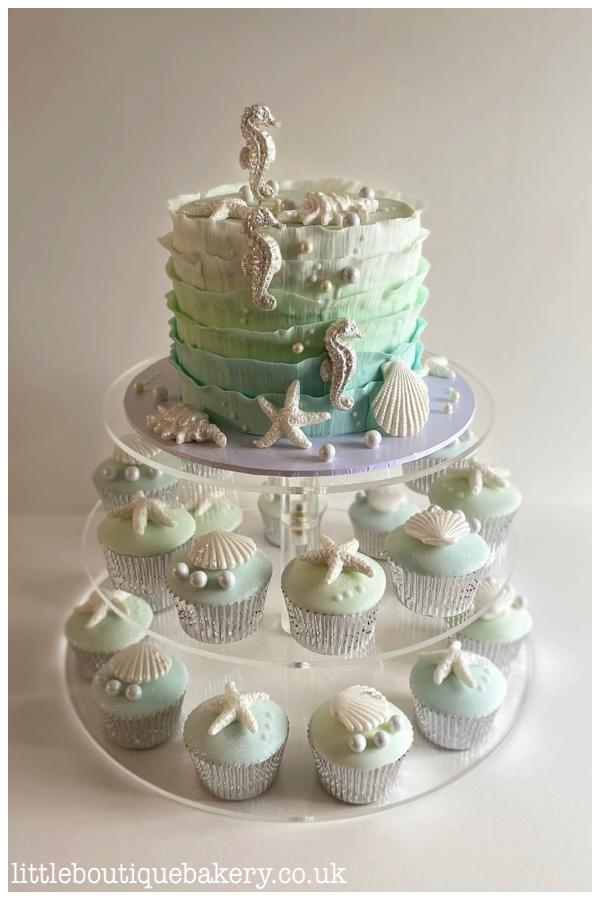 Ocean Cake & Cupcakes