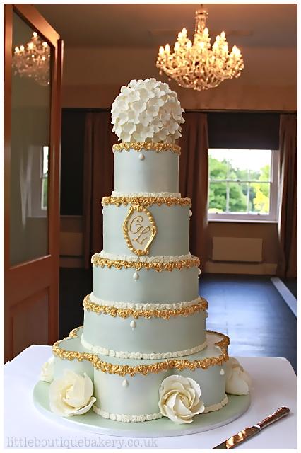 Ornate Lustre Wedding Cake
