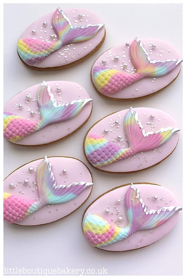 Rainbow Mermaid Cookies