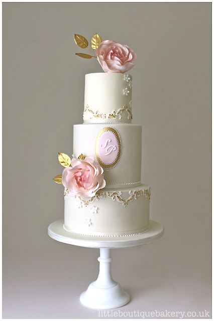 Rose Bloom Wedding Cake