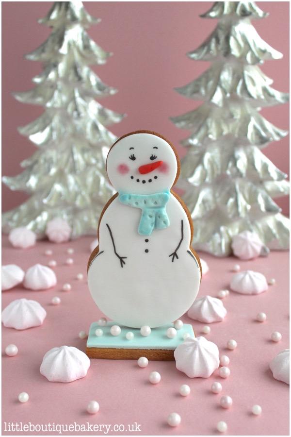 Standup Snowman Biscuit