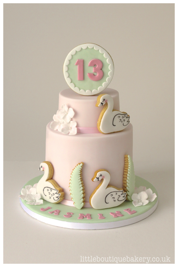 Swan Birthday Cake