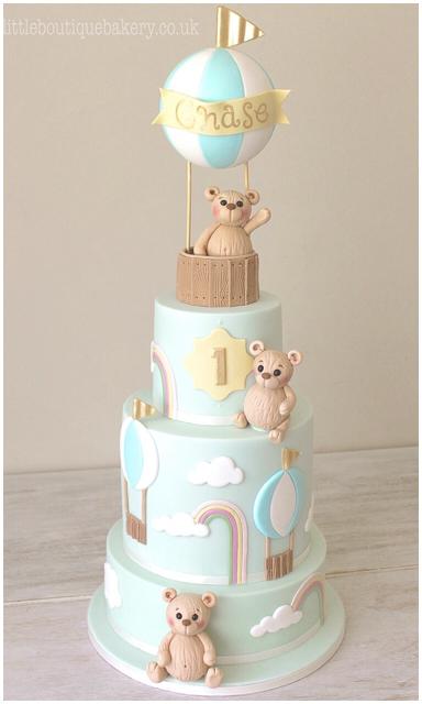 Teddy Balloon Birthday Cake