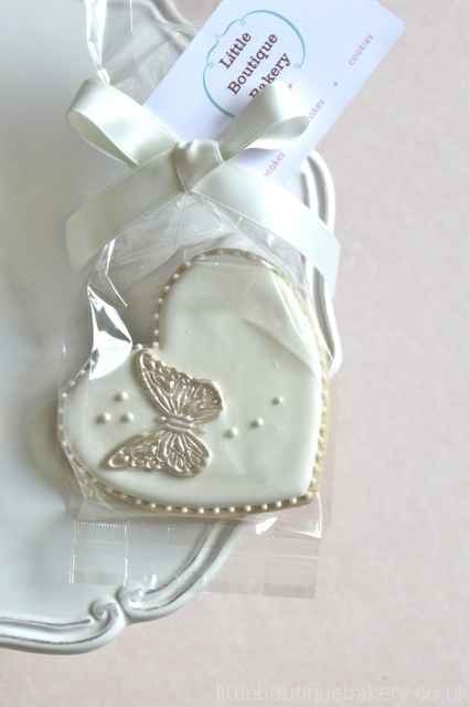 Heart Butterfly Cookie Favour