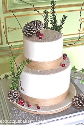 Natural Winter Wedding Cake