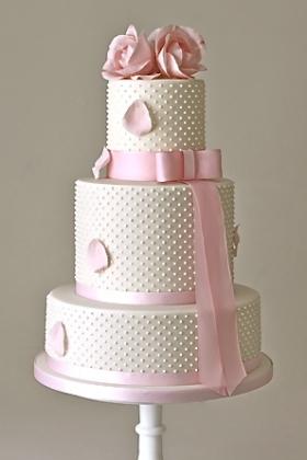 Rose Pearl Wedding Cake