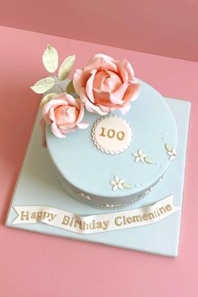 Roses Vintage  Birthday Cake