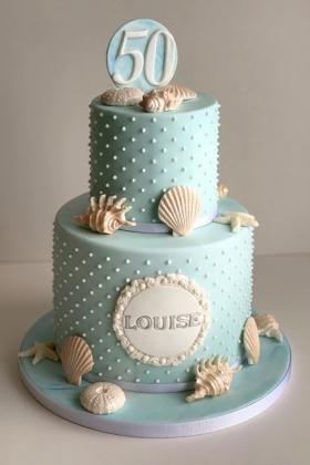 Beach Shell Birthday Cake