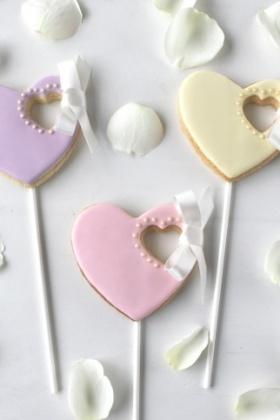 Heart Ribbon Cookies