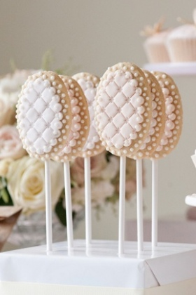 Quilted Cookie Pops