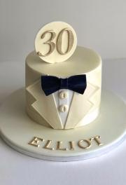 Bow Tie Birthday Cake