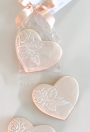 Bridal Heart Cookies