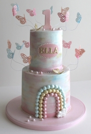 Butterfly Rainbow Birthday Cake