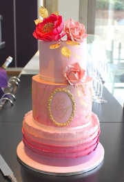 Pink & Gold Marble Cake