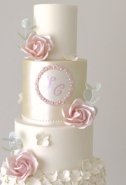Rose Eucalyptus Wedding Cake