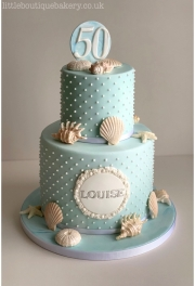 Beach Shell Birthday Cake