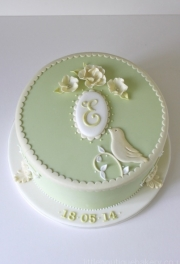 Spring Christening Cake