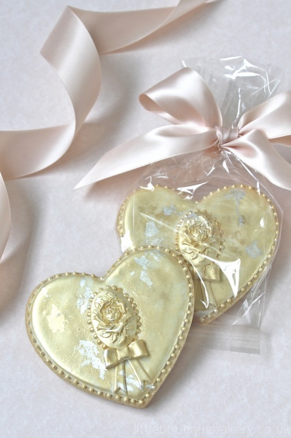 Gold & Silver Leaf Cookie Favours