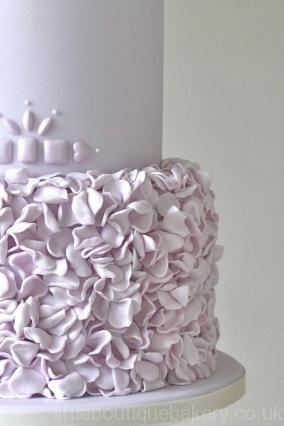 Lilac Froufrou Wedding Cake