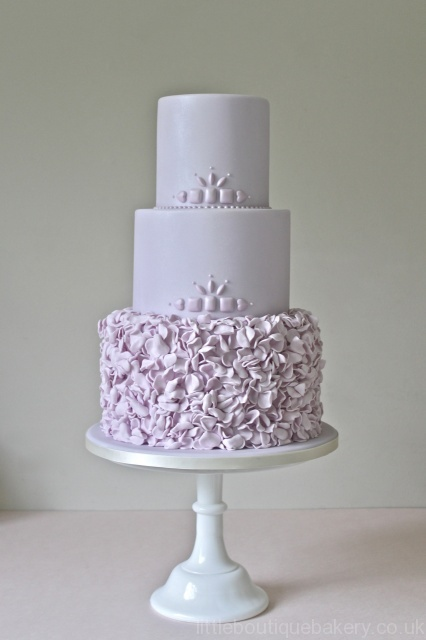 Lilac Froufrou Wedding Cake