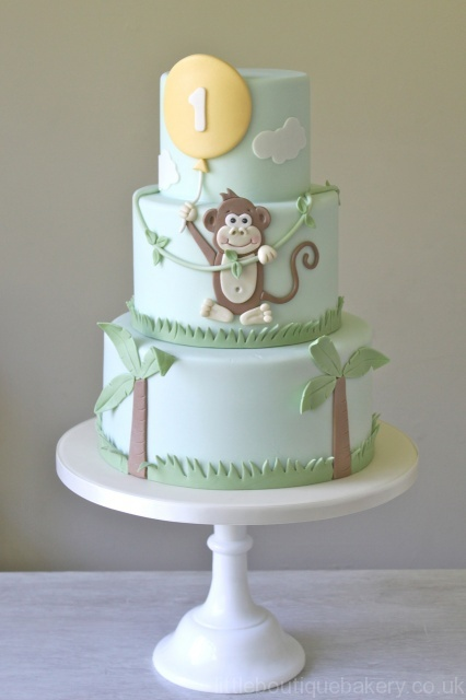 Monkey Balloon Birthday Cake