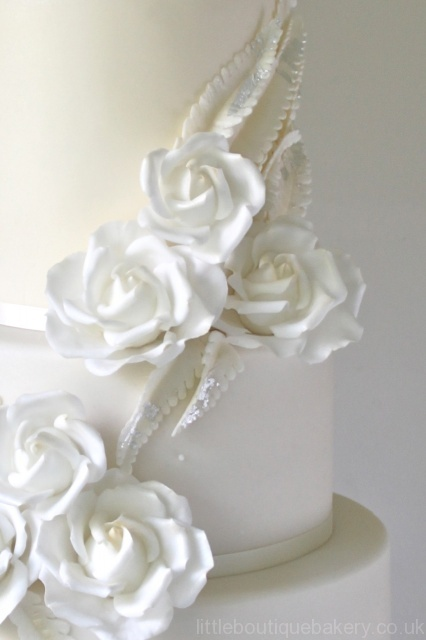 Roses & Ferns Wedding Cake