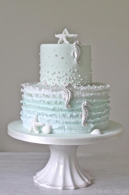 Silver Seahorse Cake