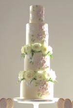 Textured Roses Wedding Cake