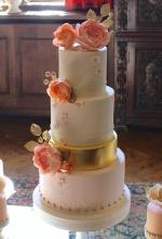 Blush, Ivory & Gold Dessert Table