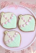 Luxe Christmas Bauble Cookies