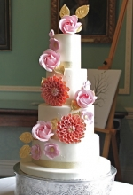 Floral Pop Wedding Cake