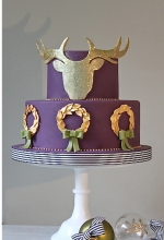 Luxury Winter Stag Cake