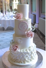 Rose Eucalyptus Wedding Cake