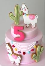 Llama Birthday Cake