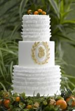 Mediterranean Frill Wedding Cake