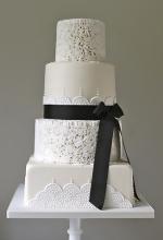 Monochrome Art Deco Wedding Cake