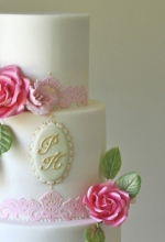 Rose Lace Wedding Cake