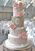 Lustre Rose Wedding Cake