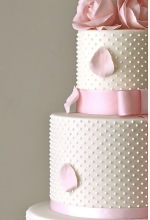 Rose Pearl Wedding Cake