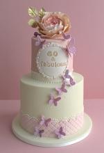 Rose Butterfly Birthday Cake