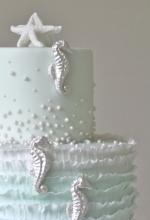 Ocean Seahorse Cake